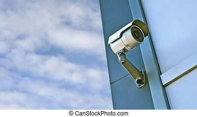 CCTV camera Security camera on the wall Private property...
