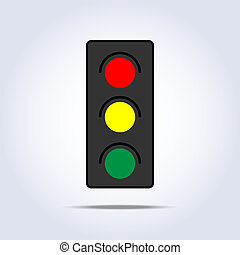 traffic light icon in vector one object
