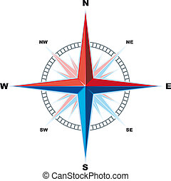 windrose compass - Classical Compass Windrose isolated on a...