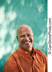 Portrait of happy mature hispanic man - Portrait of mature...