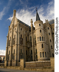 Episcopal Palace Gaudi of Astorga. Spain