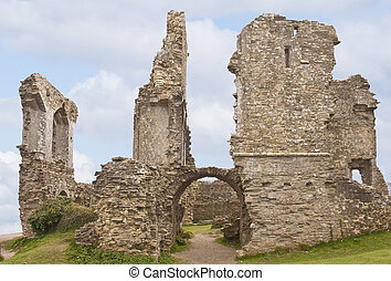 Corfe castle - View of the ruins of Corfe castle in Dorset
