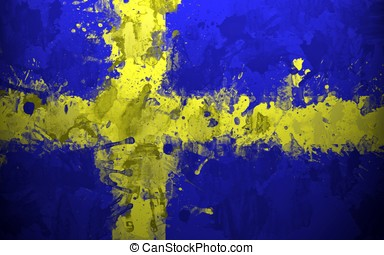 sweden flag background spots texture