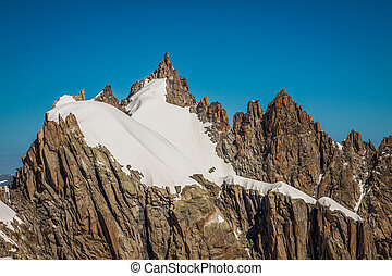 Mont Blanc massif in the French Alps,Chamonix Mont Blanc