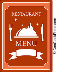 menu background with kitchen utensil and dish