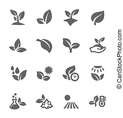 Plants icons - Vector EPS 10 Format Well Organized and...