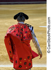 Bullfighter entering the bullring