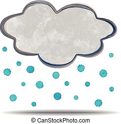 climate cloud and hail - grunge illustration of an abstract...