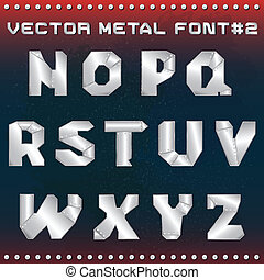 steampunk metal alphabet for design