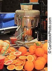 Juice bar at a market - Juice or vitamin bar at a market in...