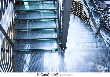 Stairs in modern office centre