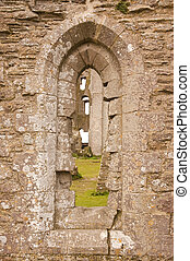 Window at Corfe castle - Window into the ruins of Corfe...