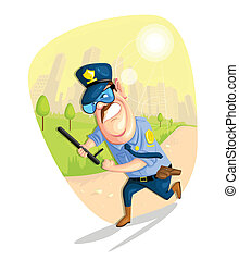 Security Guard - illustration of security guard in vector