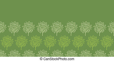 Green trees stripes horizontal seamless pattern background