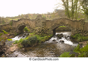 footbridge at Dunster - an old footbridge at Dunster Castle...