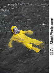 accident - worker in water
