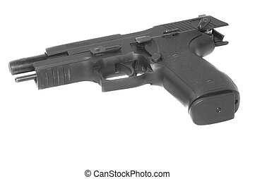 Semi-automatic pistol - Semi-automatic handgun with slide...