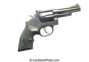 357 magnum revolver - Powerful 357 magnum revolver isolated...