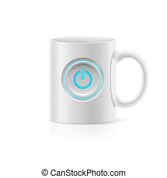 Cup - White cup with picture switch on white background