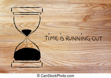 the time is running out, hourglass design - concept of not...