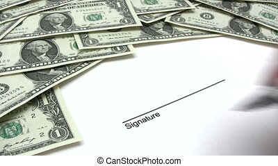 Signing Sale Contract - Canon HV30. HD 16:9 1920 x 1080 @...