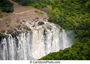 Victoria falls (South Africa) - The Victoria falls (South...