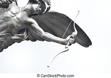 Close up of Eros Staue - Eros Statue in close up