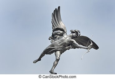 Eros statue with Blue Sky background