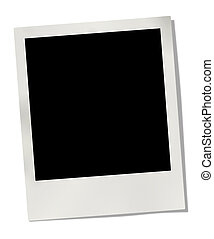 photo frame isolated on white background Clipping path