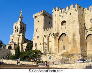 Popes Palace Avignon - Popes Palace and Cathedral, Avignon,...