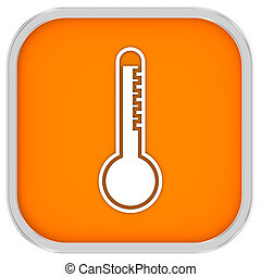 High temperature sign on a white background. Part of a...