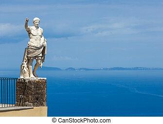 Statue of Augustus, Anacapri, Capri - Statue of Augustus,...