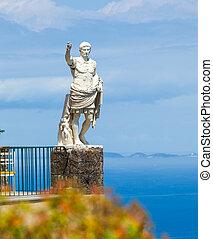 Statue of Augustus, Anacapri, Capri. - Statue of Augustus,...