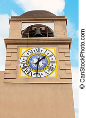 Clocktower in Capri. - Clocktower on the Italian island of...