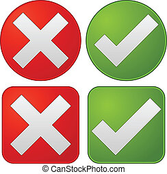 Checkmark, cross graphics