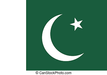 Flag of Pakistan. Vector illustration.
