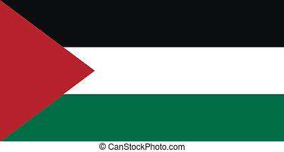 Flag of Palestine. Vector illustration.
