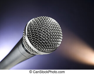 Microphone on stage - A dynamic microphone on stage Color...