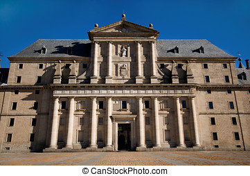 Royal Monastery of San Lorenzo de El Escorial in Madrid,...