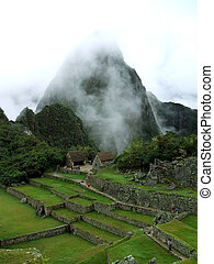 Machu Picchu - Ruins of Machu Picchu in the andes of peru.