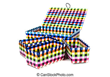 Hand craft plastic basket set - Hand craft plastic basket...
