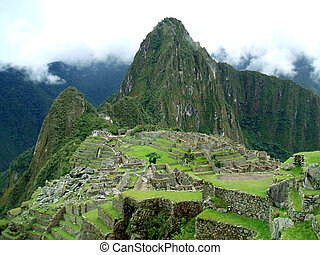 Machu Picchu - Ruins of Machu Picchu in the andes of peru