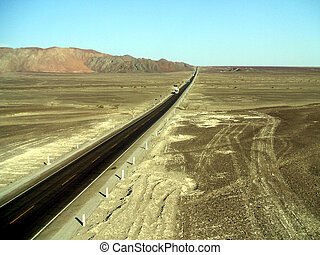 Panamericana - The Panamericana near Nazca, south america,...