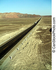 Panamericana near Nazca - The Panamericana near Nazca, south...