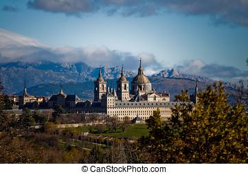 królewski, klasztor, San, Lorenzo, od, El, Escorial,...