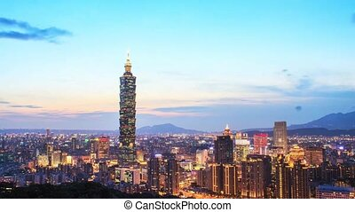 Nice view of Taipei night, Taiwan for adv or others purpose...