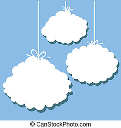 stylized clouds - set of stylized images of clouds
