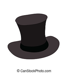 vector illustration of mens hat isolated