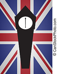 Big Ben Flag - A Big Ben silhouette with a Union Jack...