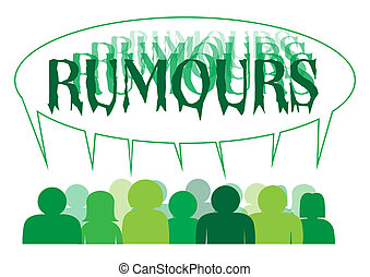 Rumours People - A silhouette of a group of people sharing a...